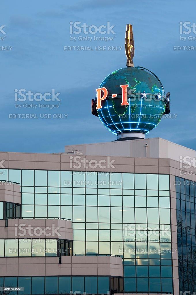 Seattle Post Intelligencer globe stock photo