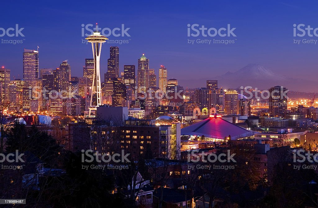Seattle Postcard View stock photo