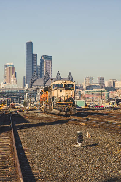 Seattle Railroad Track stock photo