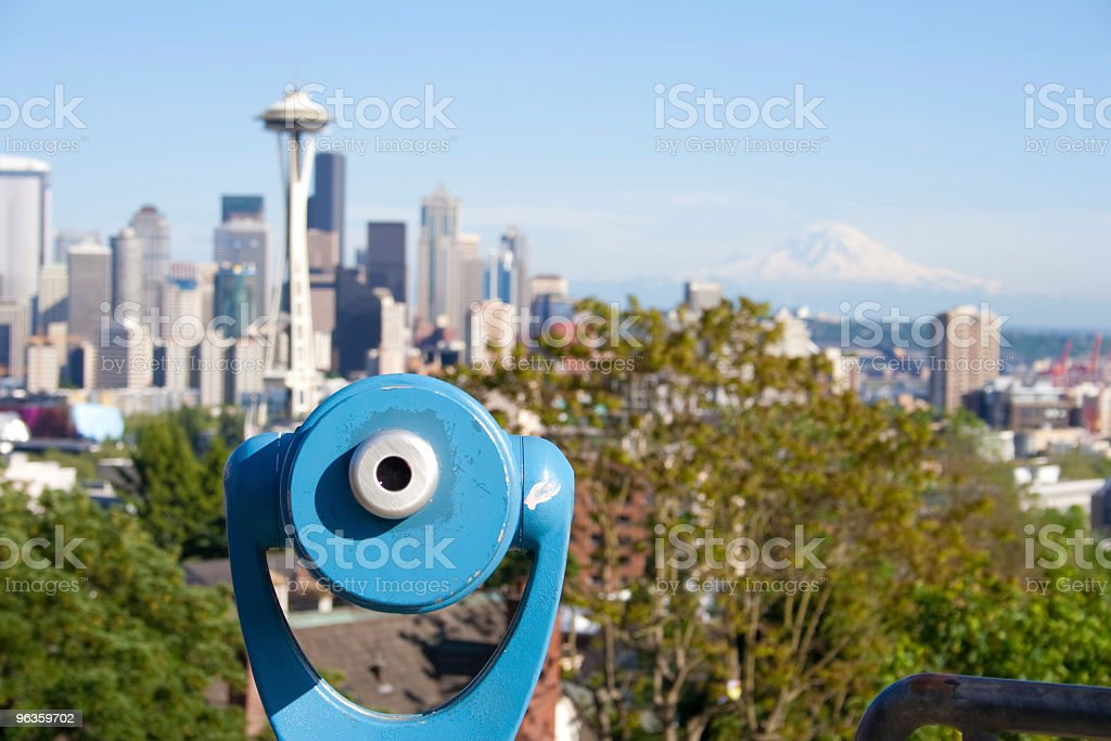 Seattle scenic overlook stock photo