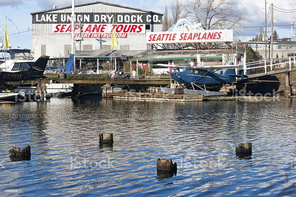 Seattle SeaPlanes stock photo