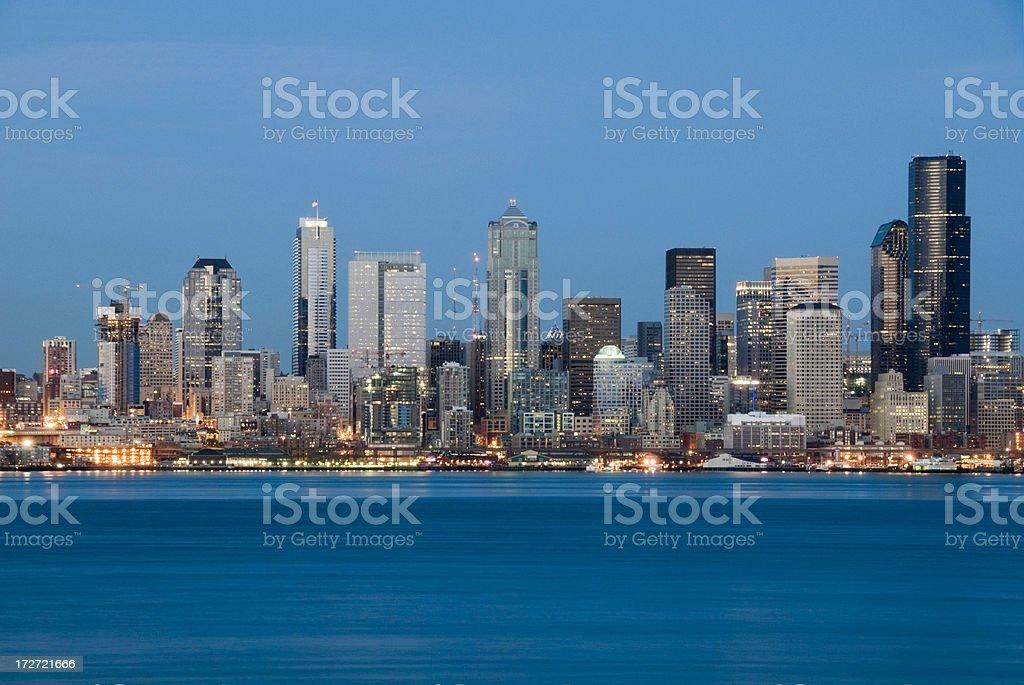 Seattle Skyline at Dusk stock photo