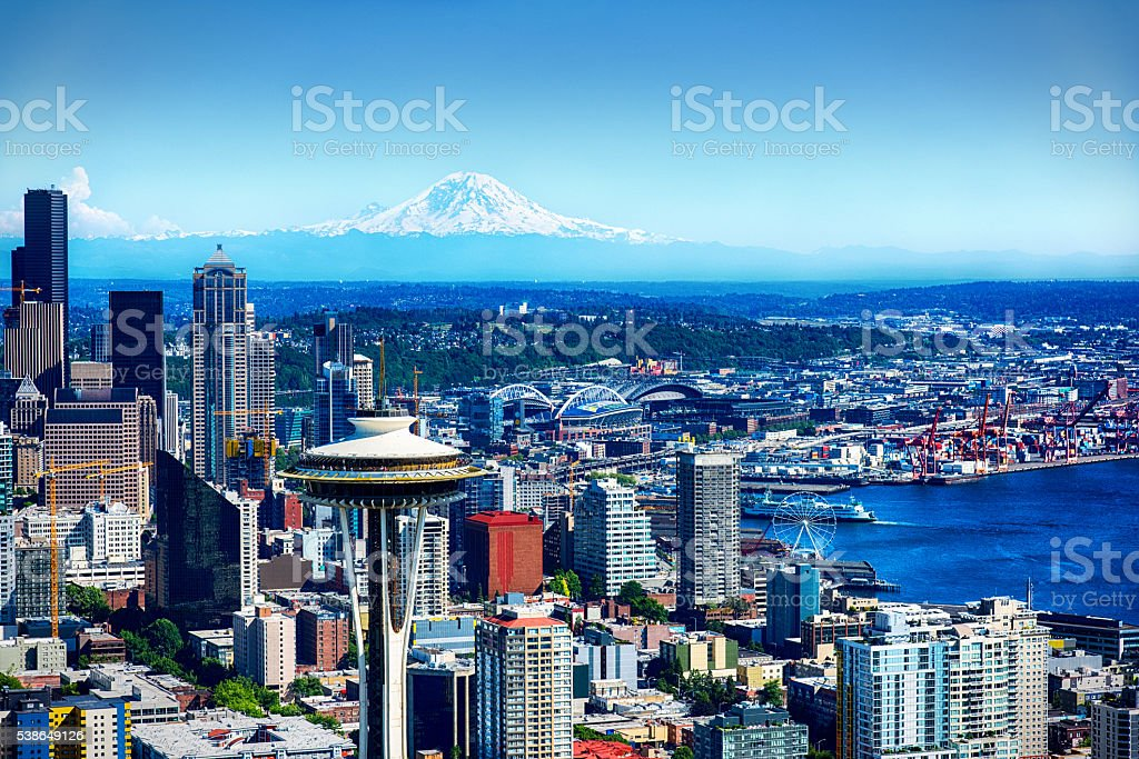 Seattle Skyline from Above stock photo