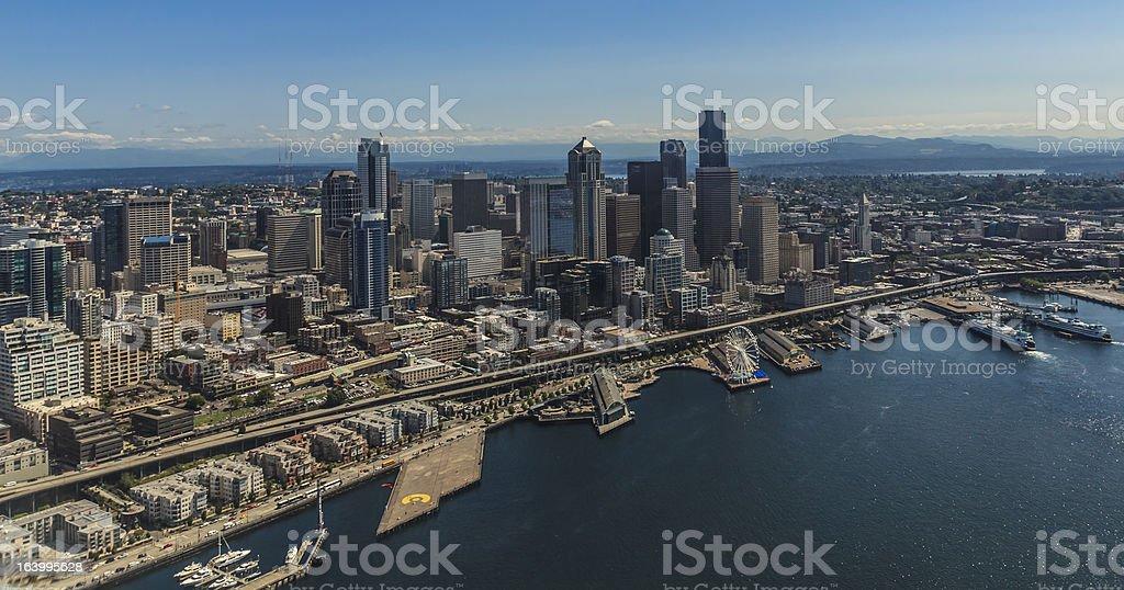 Seattle Skyline from Elliott Bay. royalty-free stock photo