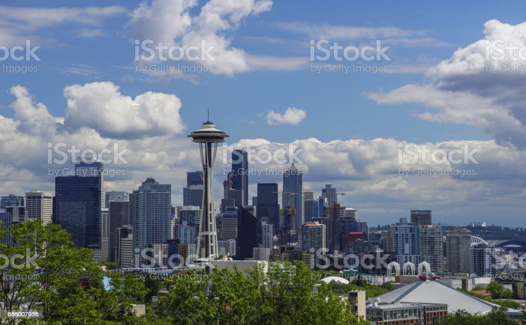 Seattle Skyline from Kerry Park stock photo