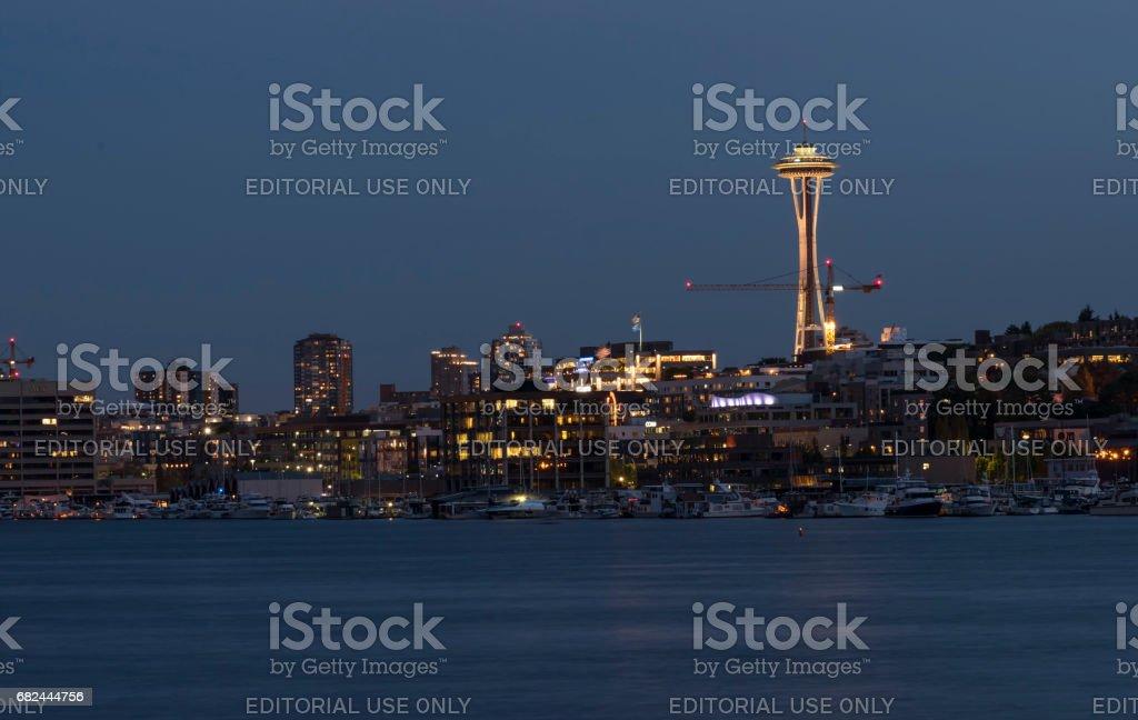 Seattle Skyline from Lake Union stock photo