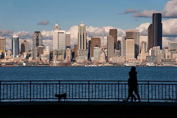Seattle Skyline from West Seattle stock photo