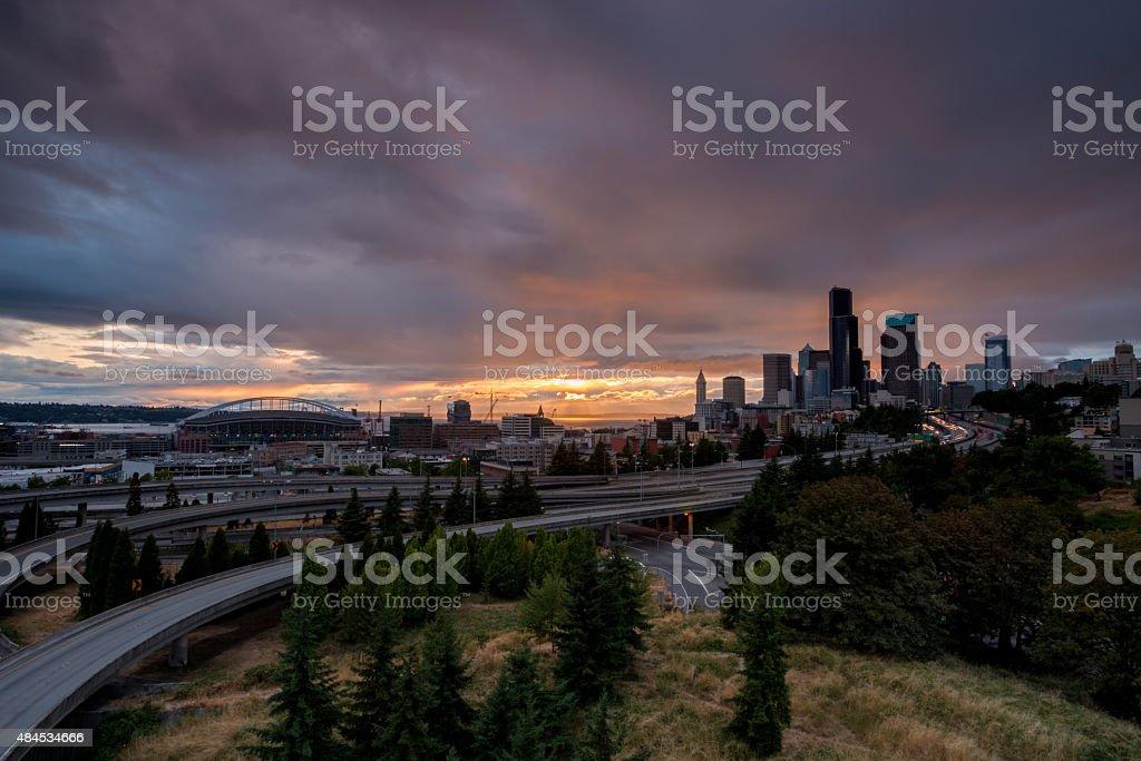 Seattle Skyline HDR stock photo