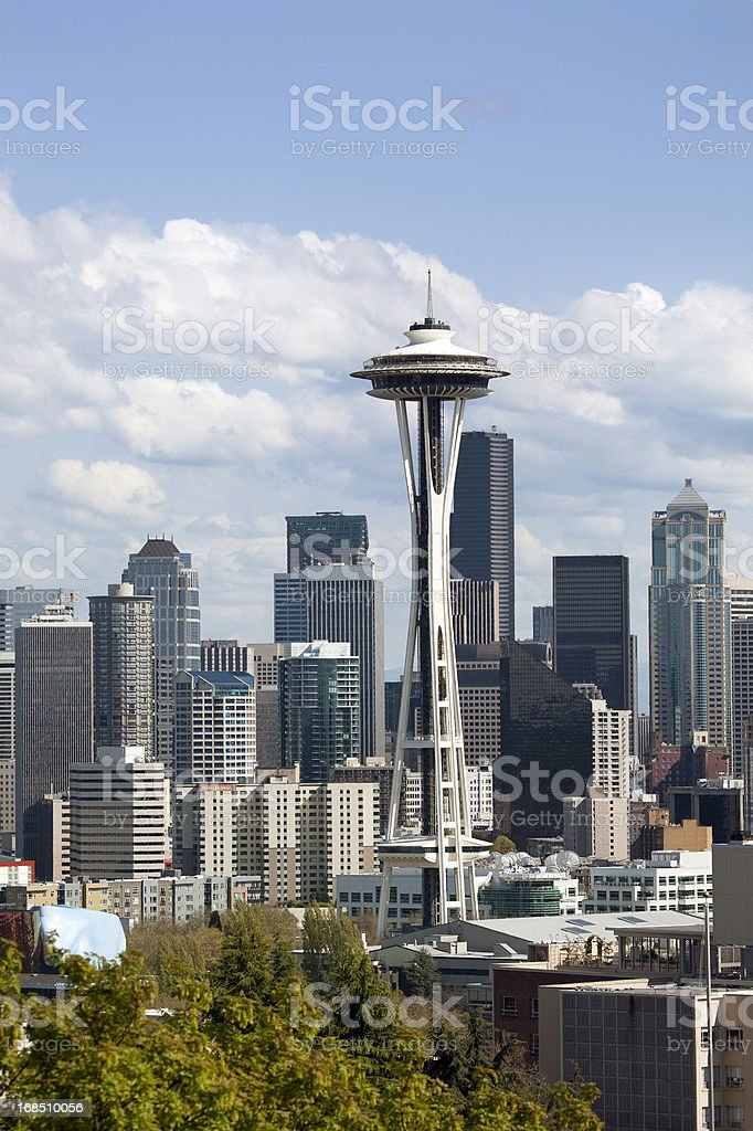 Seattle Skyline in Summer royalty-free stock photo
