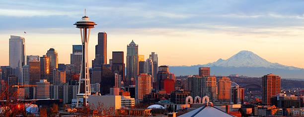 seattle skyline - panorama - seattle 個照片及圖片檔