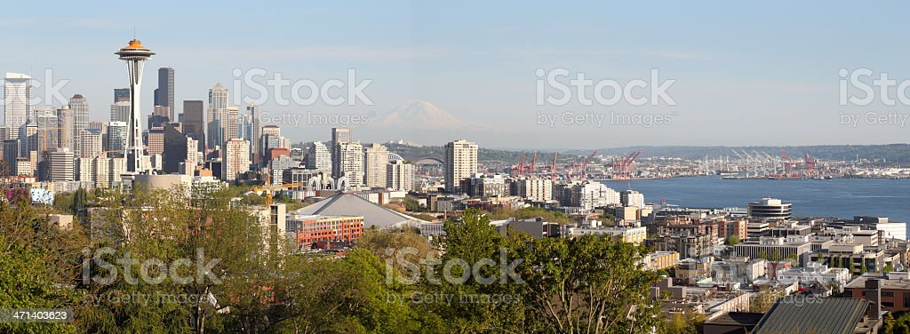 Seattle Skyline Panorama royalty-free stock photo