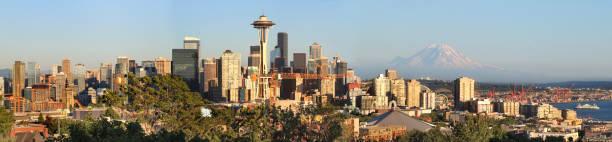 Seattle Skyline Panorama stock photo