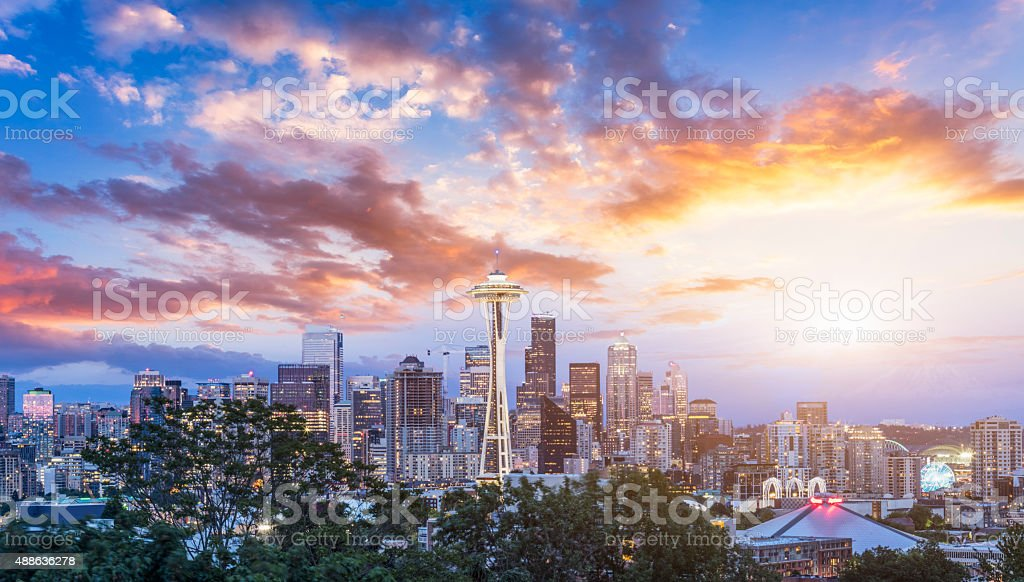 seattle skyline stock photo