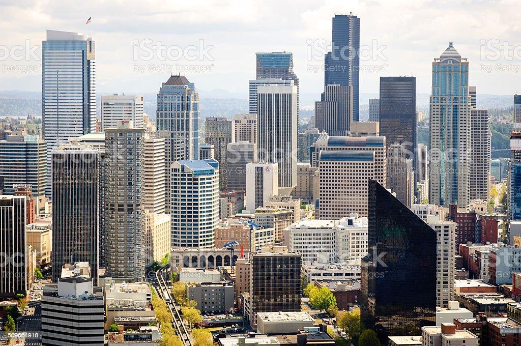 시애틀 스카이라인 스톡 사진