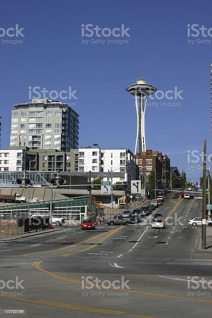 Seattle street life royalty-free stock photo