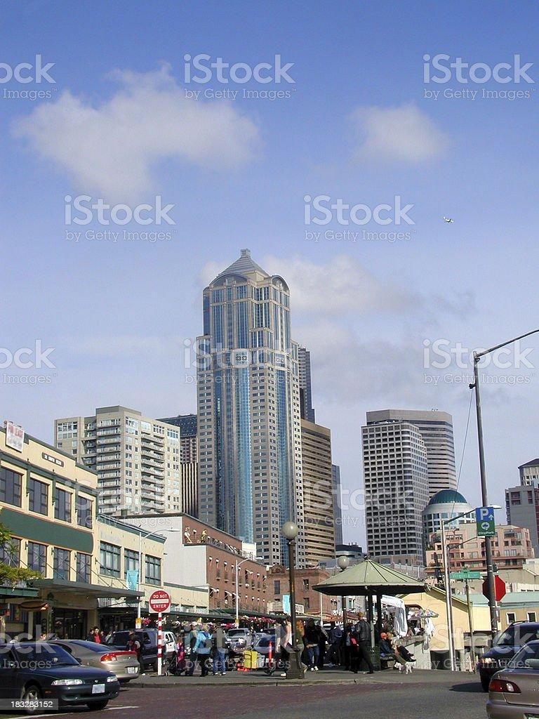 Seattle Street Scene royalty-free stock photo