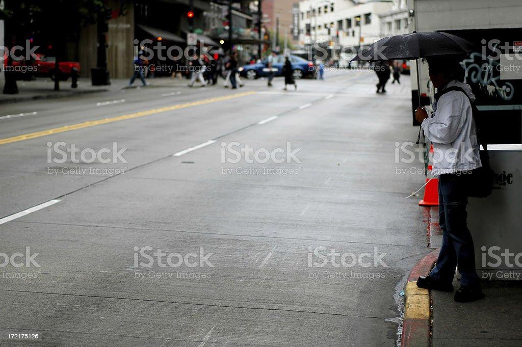 Seattle streets stock photo