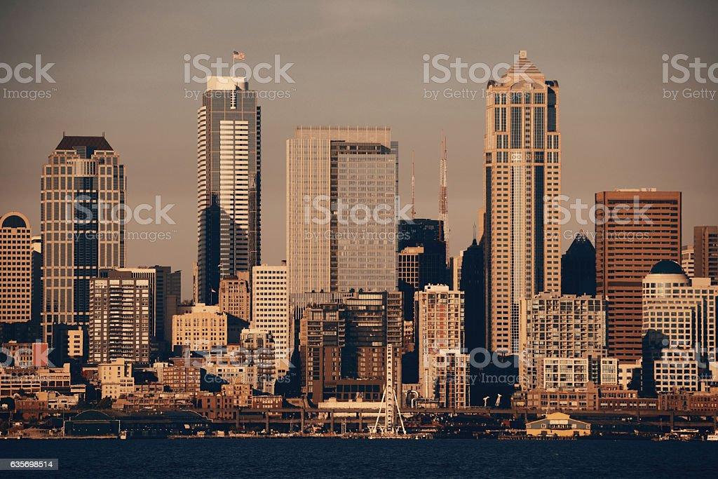 Seattle sunrise royalty-free stock photo
