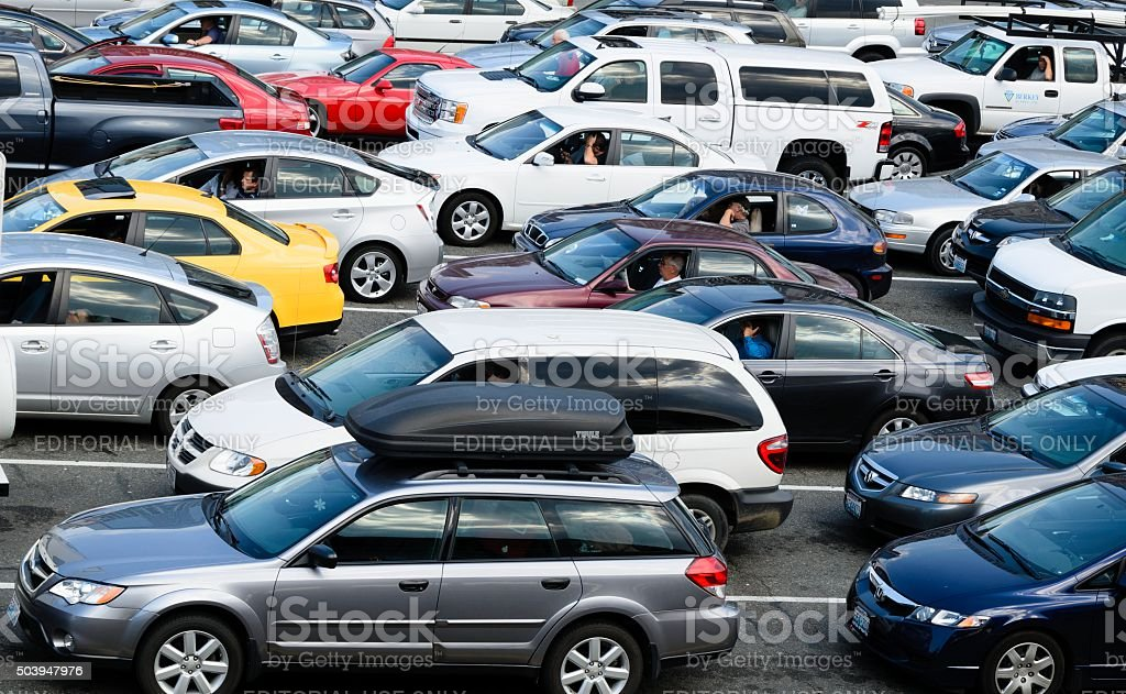 Seattle Traffic Jam stock photo