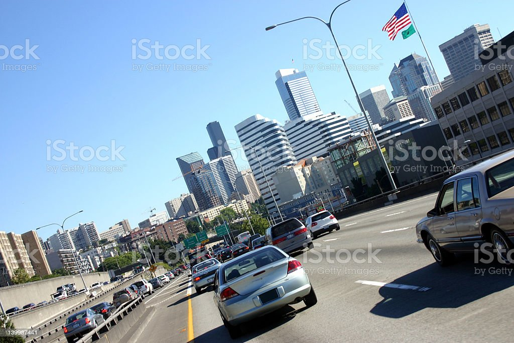 Seattle Traffic royalty-free stock photo
