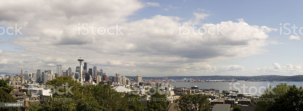 Seattle, Washington City Skyline Panoramic stock photo
