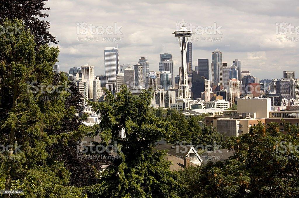 Seattle, Washington City Skyline royalty-free stock photo