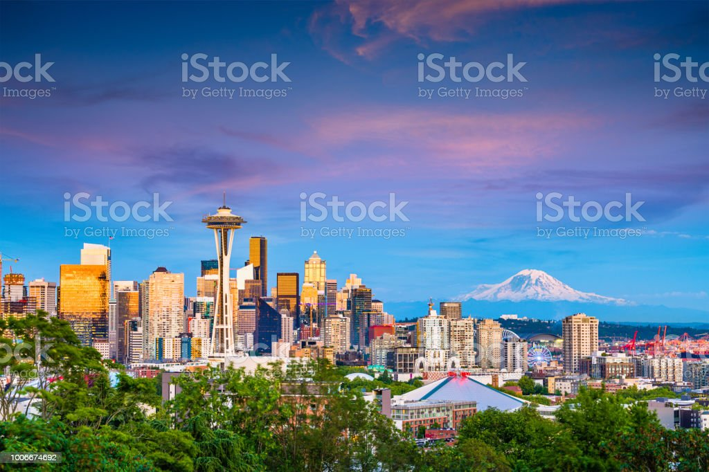 Seattle, Washington, USA Skyline stock photo