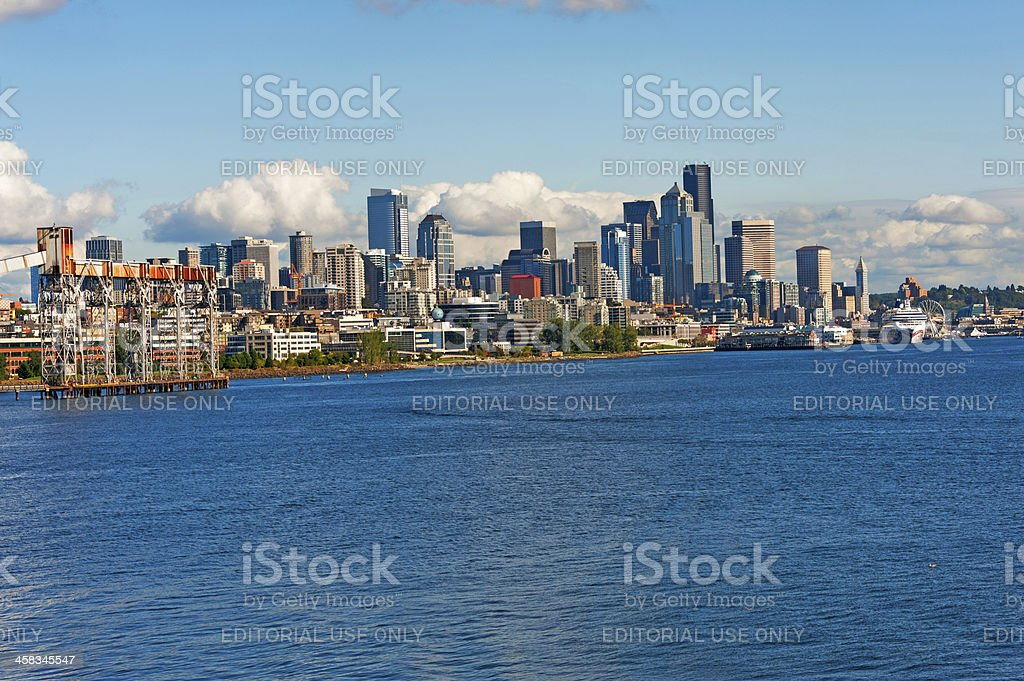 Seattle Waterfront and Skyline royalty-free stock photo