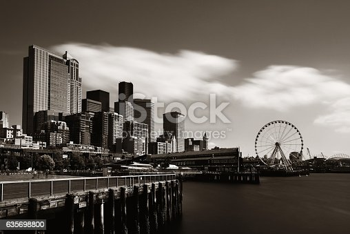 Seattle Waterfront Stock Photo & More Pictures of Architecture
