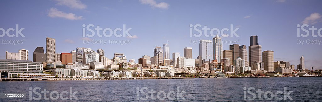 Seattle Waterfront, September 2007 royalty-free stock photo