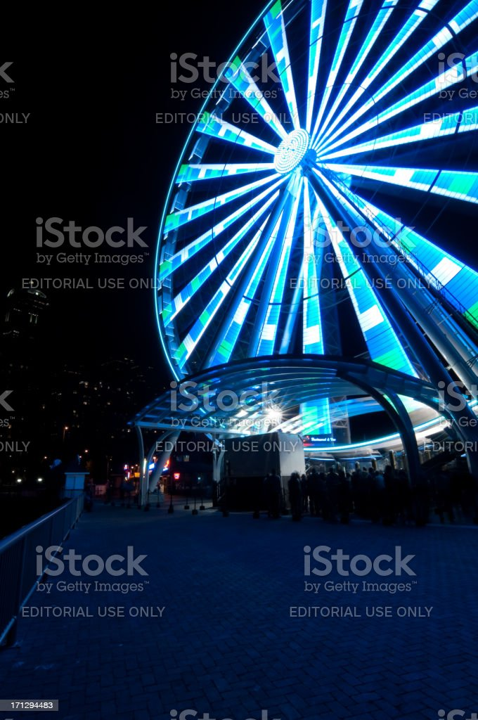 Seattle's Great Wheel royalty-free stock photo