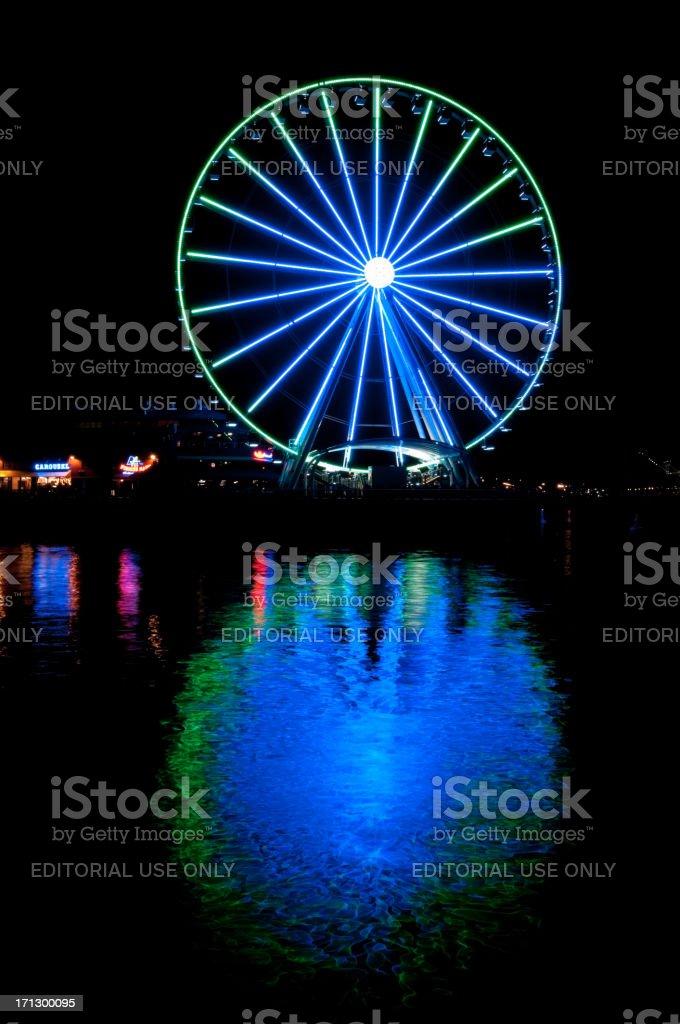 Seattle's Great Wheel royalty-free stock photo