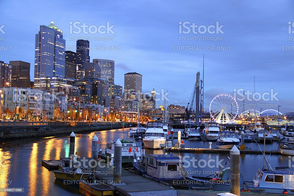 Seattle's Shoreline royalty-free stock photo