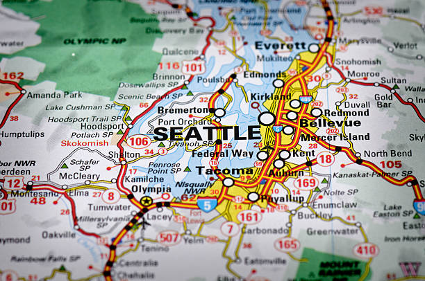 Royalty Free Seattle Washington Map Pictures Images And Stock