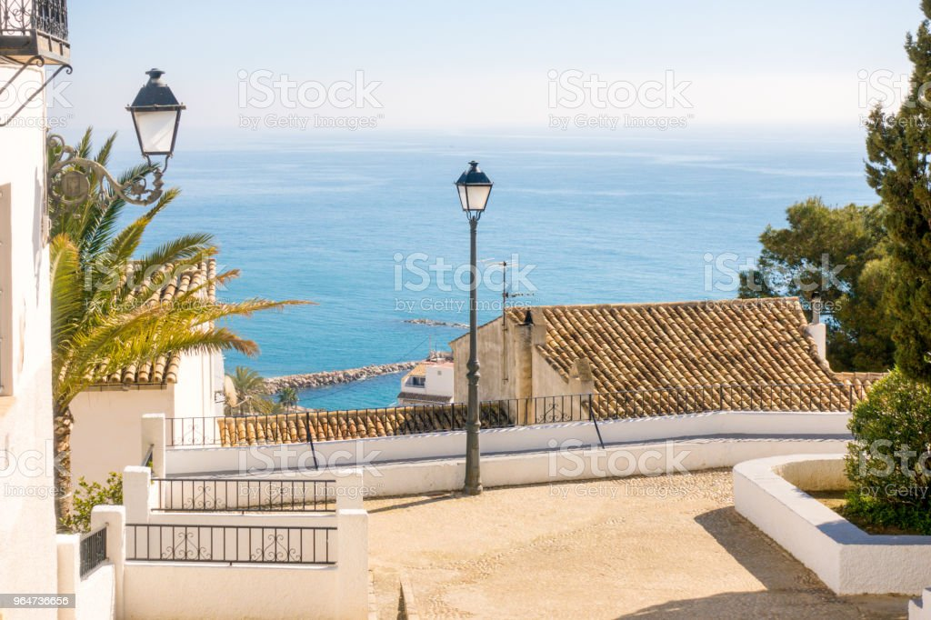 Seaview from old town Altea on the Mediterranean sea royalty-free stock photo