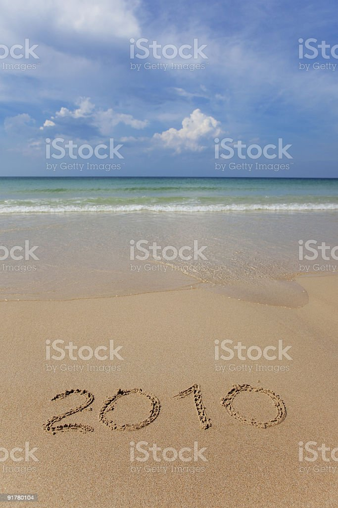 seaview - Happy New Year stock photo