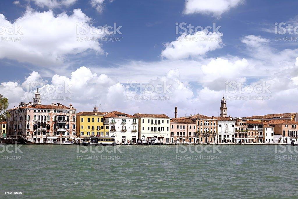 Seaview of Venice, Italy . Panorama royalty-free stock photo