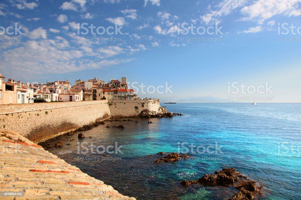 Deich Und Hafen In Antibes Frankreich Stockfoto Und Mehr Bilder Von