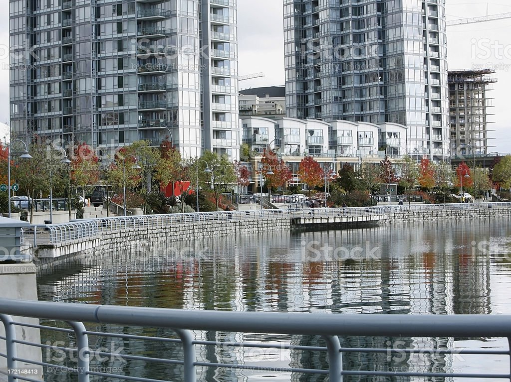 Seawall At Yaletown Vancouver royalty-free stock photo