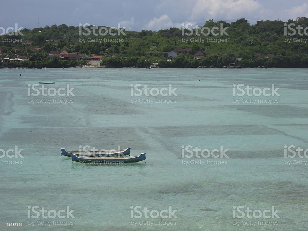 Seaweed cultivation at Nusa Lembongan royalty-free stock photo