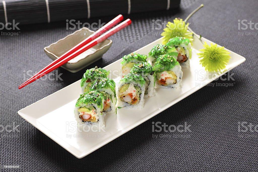 Seaweed Roll stock photo