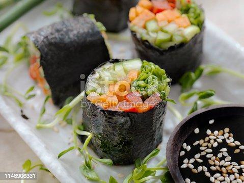 Seaweed Salad Rolls