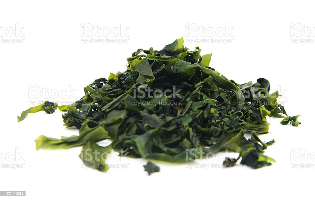 Seaweed wakame stock photo