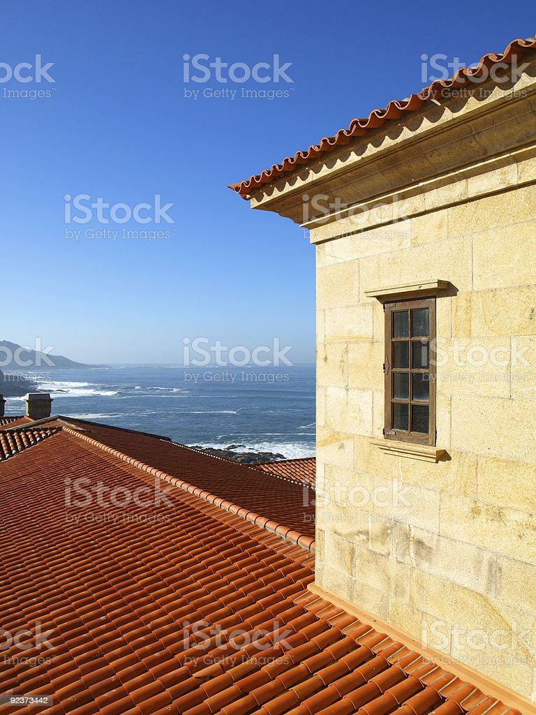 Seawiew from a balcony royalty-free stock photo