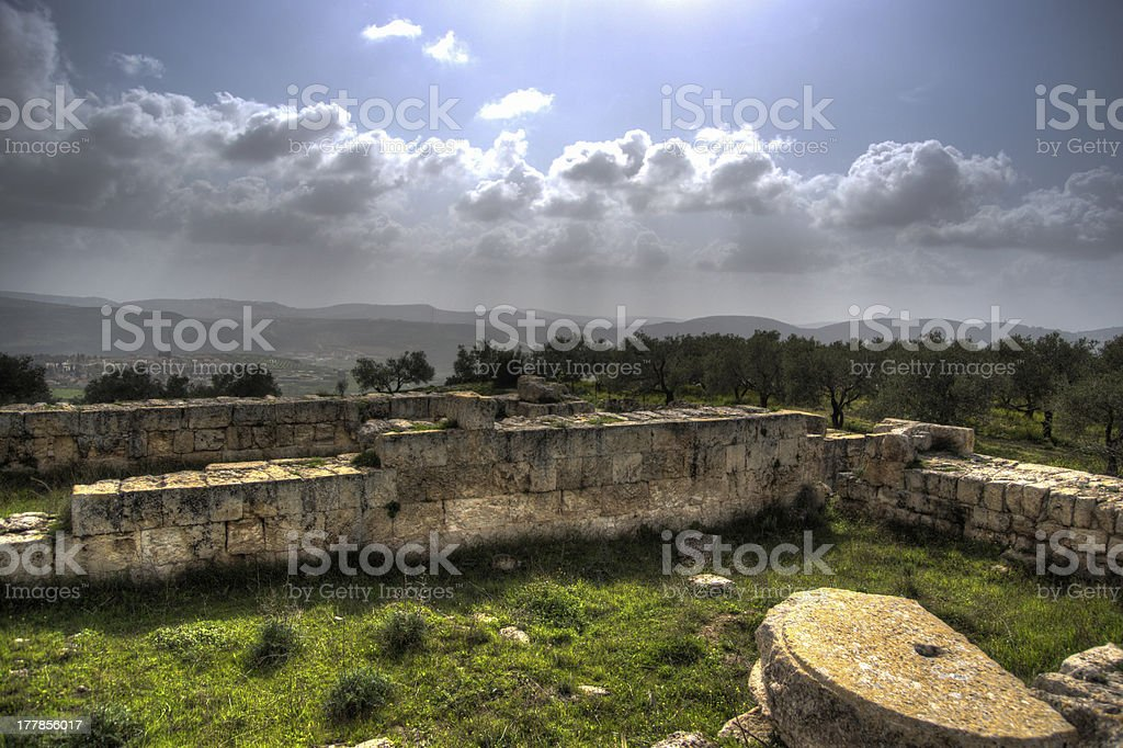 Sebastia archeology ancient ruins royalty-free stock photo