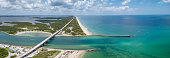 Sebastian Inlet allows boats to reach the open ocean from the protected lagoon.