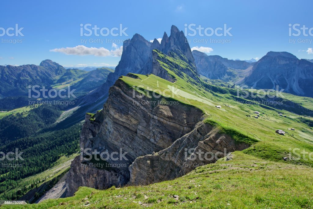 Seceda stock photo