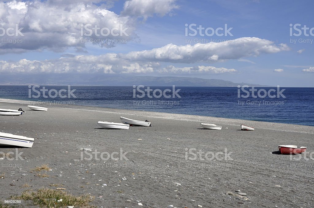 secluded beach - sicily royalty-free stock photo