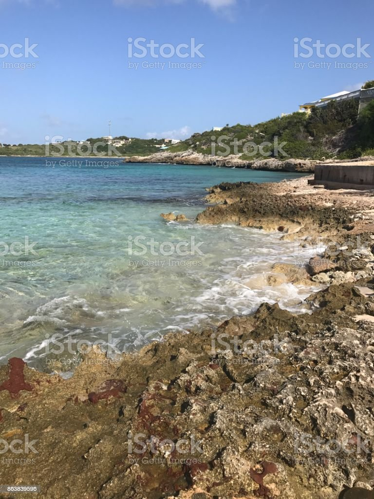 Secluded Caribbean Beach Stock Photo & More Pictures of Anguilla