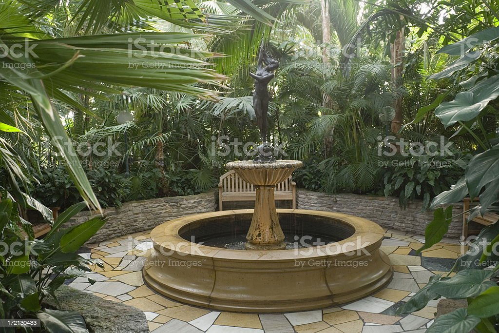 Secluded Fountain Hz stock photo